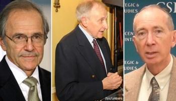 Ambassador Herman Cohen, Amb. Princeton Lyman (L) and Amba. David Shinn (R)