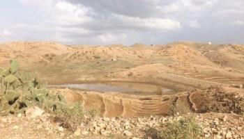 Nakfa, Eritrea.  Micro dam at the beginning of the rainy season; it's used for irrigated farming.