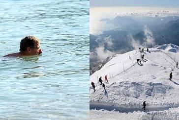 Ky është vendi ku turistët provuan shijuan brenda ditës detin dhe borën