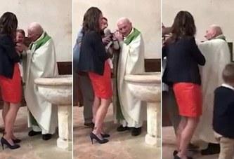 Nxirret në pension prifti që rrahu fëmijën gjatë pagëzimit