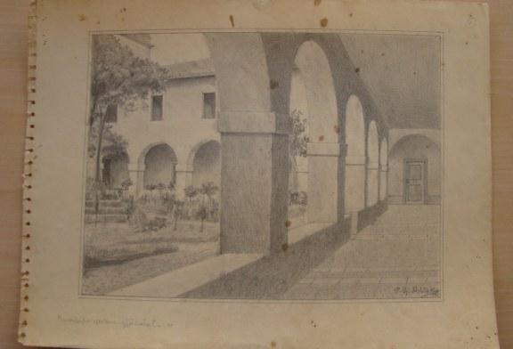 Skica e rrallë e Kuvendit Françeskan nga At Gjergj Fishta: ja ç'pasion kishte poeti i madh për pikturën dhe arkitekturën