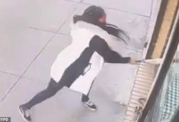 Histeria e një gruaje shtatzënë në Bronx: thyen xhamat e restorantit për një burger (video)