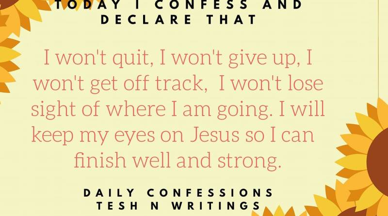 DAILY CONFESSIONS – Tesh N Writings