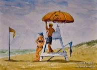 Yellow Flag. Myrtle Beach SC. 9×12. Watercolor on paper. Plein Air.