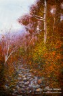 Secret Creek Autumn. 14x21. Watercolor on paper.