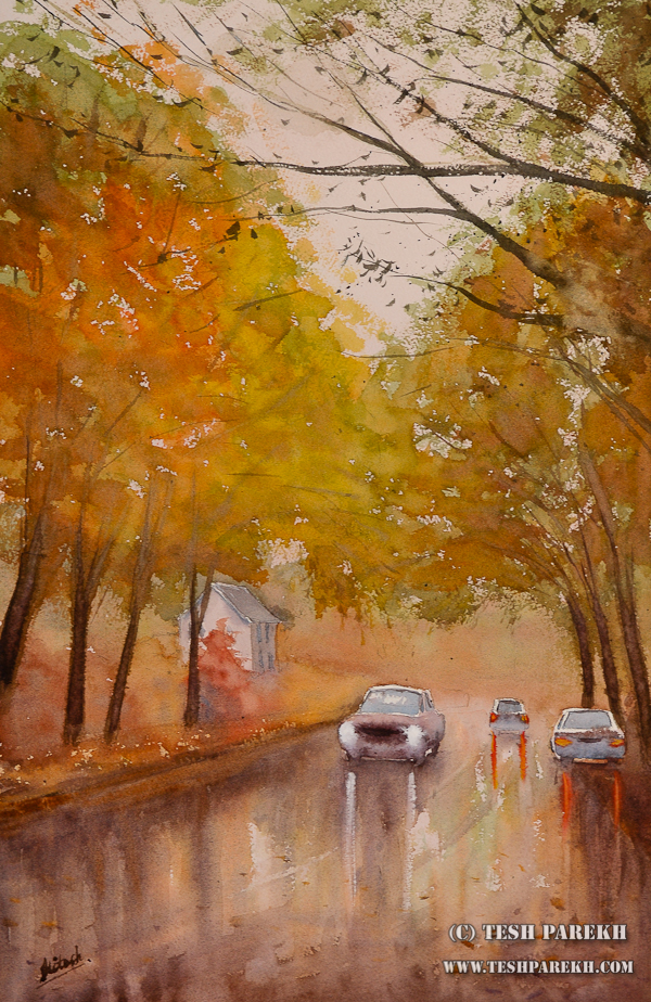 Rainwater. 22x14. Watercolor on paper.