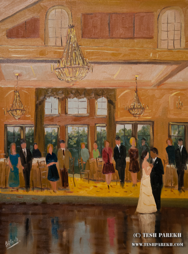 Live Wedding Painting : first dance of Katherine and Manny by Raleigh NC Live Event Artist