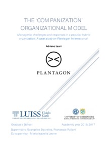 The companization organizational model: managerial