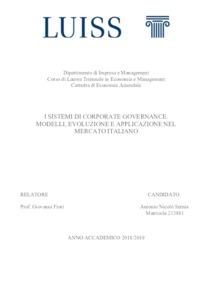 I sistemi di corporate governance: modelli, evoluzione e