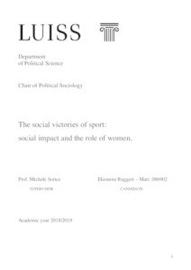 The social victories of sport: social impact and the role