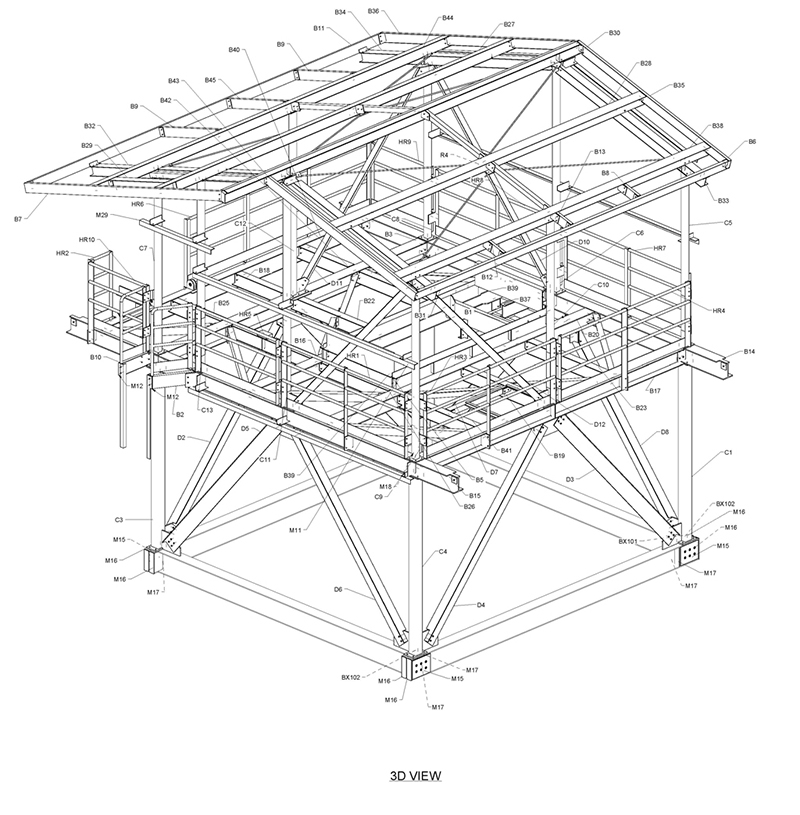 A brief account of structural steel shop drawings and the