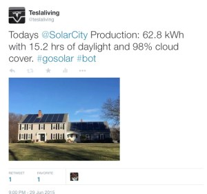 Automated SolarCity Tweet
