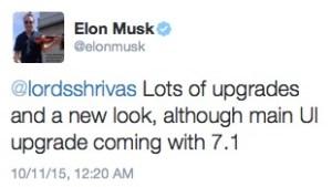 Elon hints at 7.1