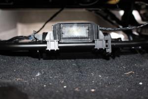 Rear floor light in