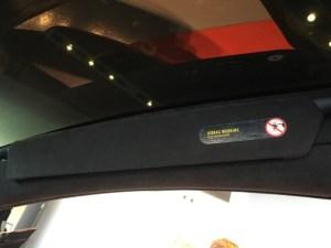 Model X Sun visor