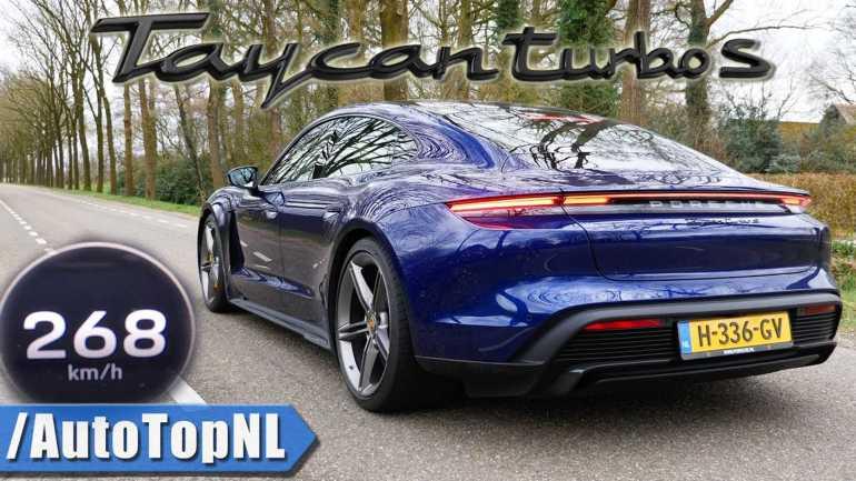 Часы Porsche Taycan Turbo S Управление запуском, ускорение и максимальная скорость