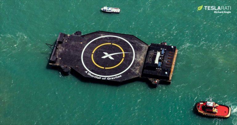 Новейший дрон-корабль SpaceX поддержит первую посадку Falcon 9 в конце этой недели