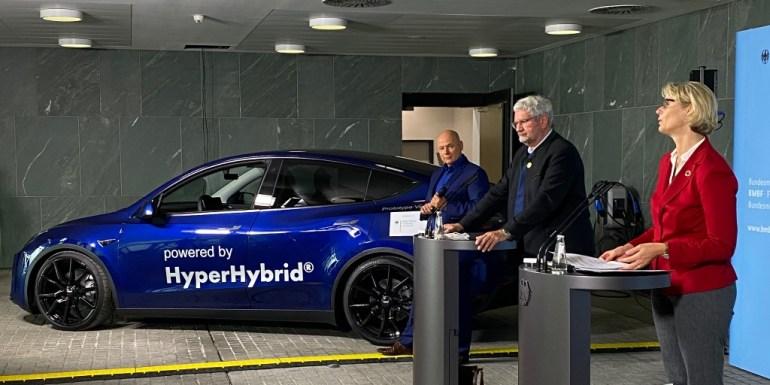 Tesla Model Y переоборудовали в зеленый водородный автомобиль, чтобы продемонстрировать «гипергибридные» инновации