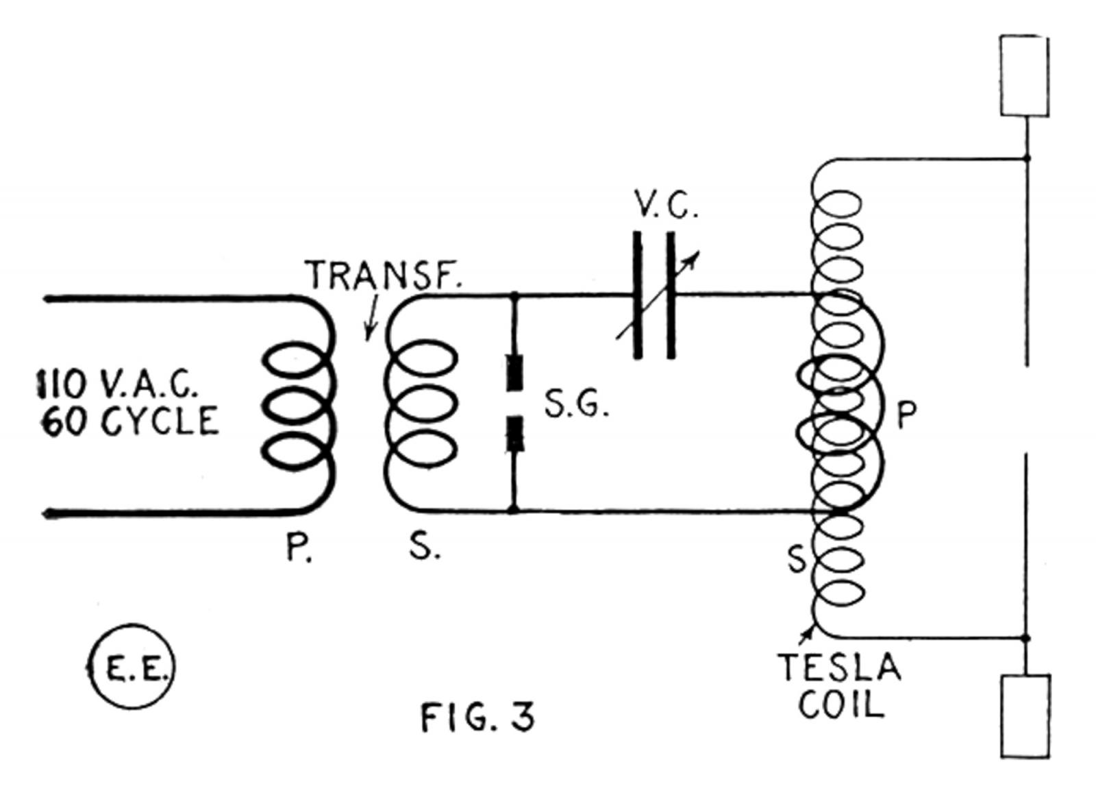 medium resolution of large tesla coil and exciting transformer wiring diagram