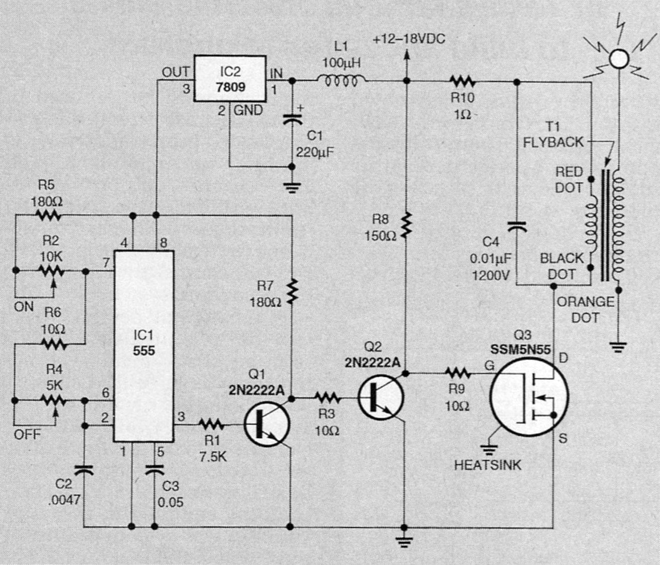 stun gun circuit diagram furthermore high voltage generator circuit coil gun diagram furthermore high voltage power supply schematic [ 1322 x 1131 Pixel ]