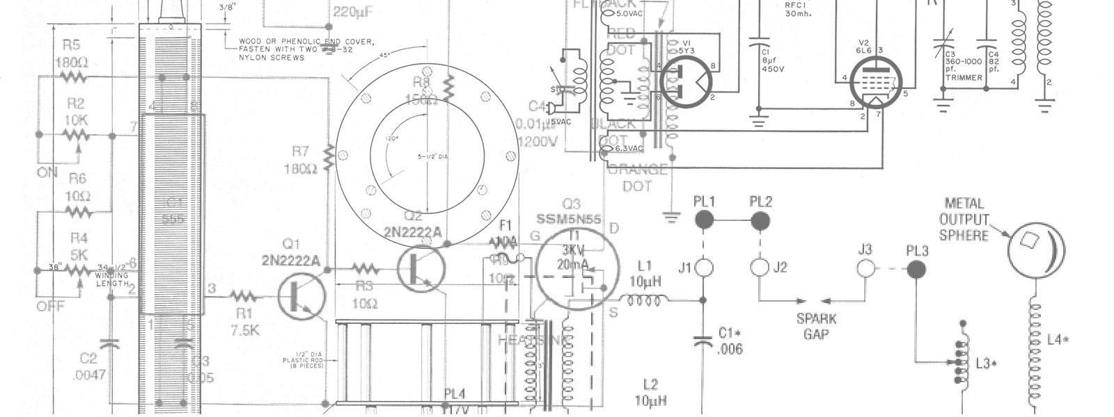 build a solid state tesla coil tesla universe solid state tesla coil or high voltage generator circuit diagram [ 1600 x 600 Pixel ]