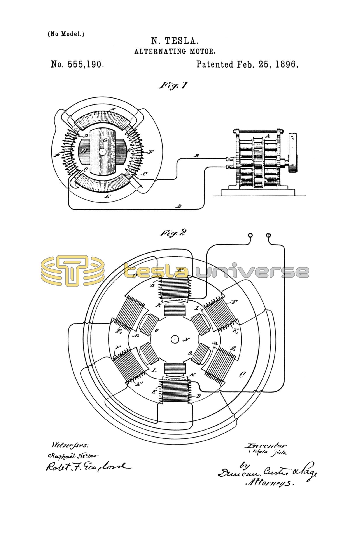 Tesla Motor diagram