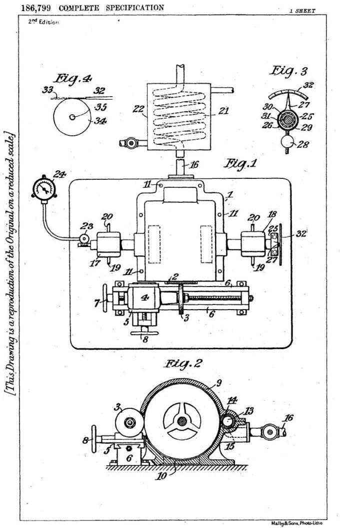 Nikola Tesla British Patent 186,799 - Proceso y aparato para equilibrar piezas de máquinas giratorias - Imagen 1