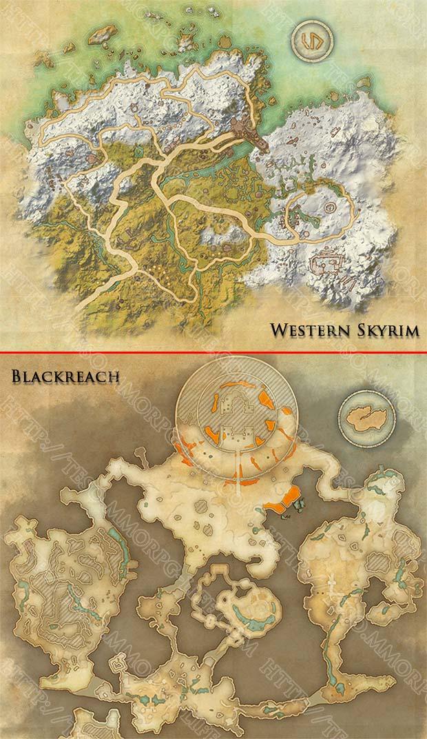 Grahtwood Map Eso : grahtwood, Western, Skyrim, Skyshards, Location