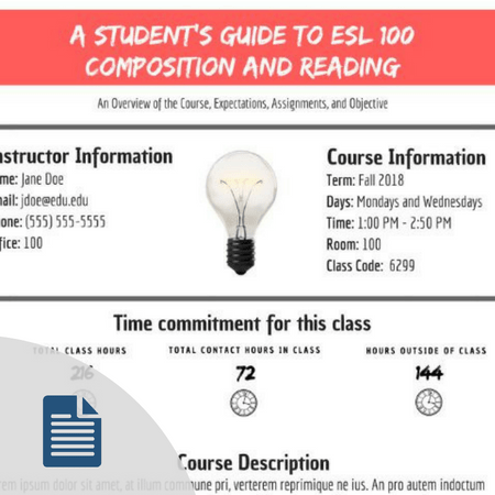 Product Image for Syllabus Template