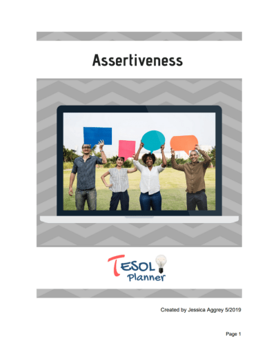 Assertiveness Unit Student Packet