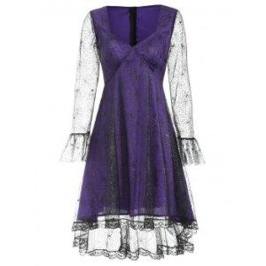 Spider Web Lace Halloween Dress