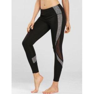 Mesh Panel Space Dye Side Sports Leggings