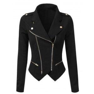 Irregular Zippered Jacket