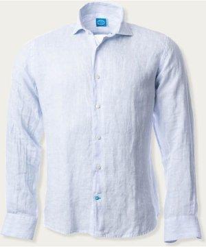 Blue Phuket Striped Linen Shirt