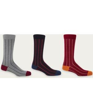 Pin Stripe Socks - Set of 3
