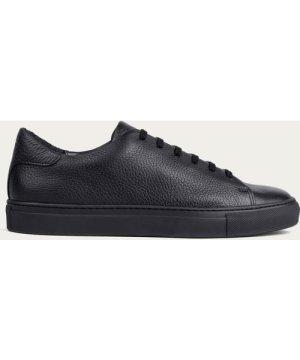 Black Laurent Pebble Leather Sneaker