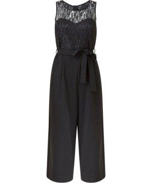 Mela London Yumi Lace Top Culottes Jumpsuit