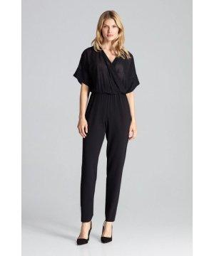 Figl Black Elegant Jumpsuit