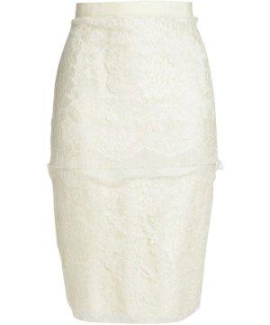 Lanvin Ivory Lace Skirt