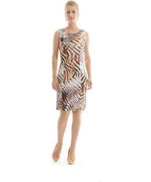 Conquista Animal Print Sleeveless Dress