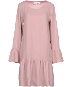Dry Lake. Pink Long Sleeve Ruffle Dress