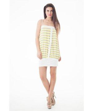 Conquista Striped Stretch Fabric Mini Dress