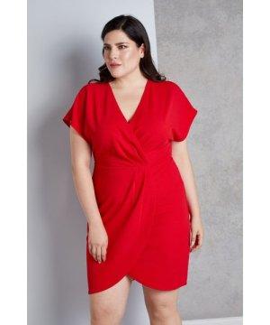 Mela London Curve Wrap Front Dress