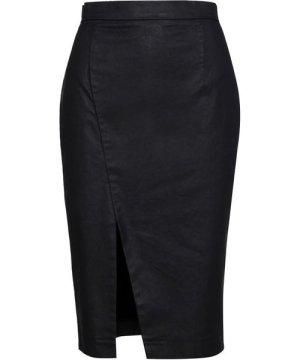 Conquista Black Pencil Skirt by Fashion
