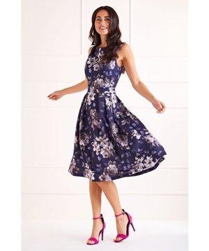 Mela London Floral Printed Prom Dress