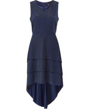 Mela London Yumi Triple Ruffle High Low Shimmer Dresss