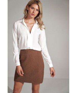 Figl Brązowa A-line mini skirt