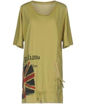 Galliano Acid Green Short Sleeve Sweatshirt Dress