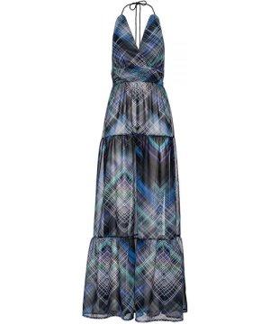 Conquista Maxi Empire Line Print Dress