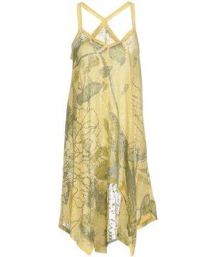 Gas Yellow Print Cotton Dress